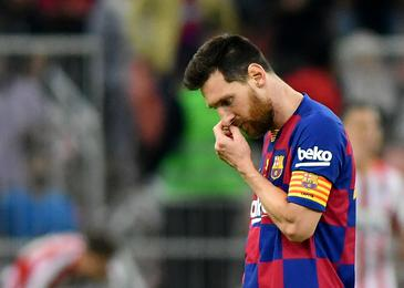 Messi težko prenesel poraz proti Oblaku #video