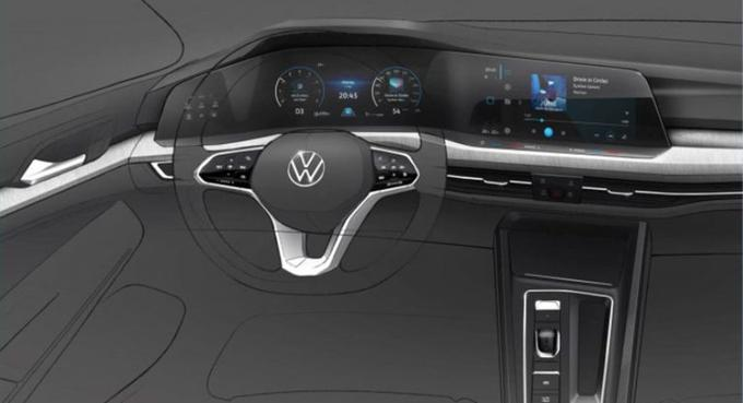 Sketch of the eighth generation of the interior of the VW Golf