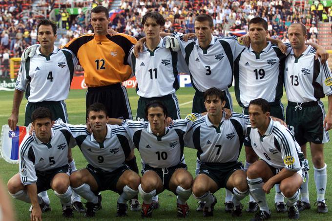Slovenska nogometna reprezentanca je na velikem tekmovanju prvič nastopila leta 2000.