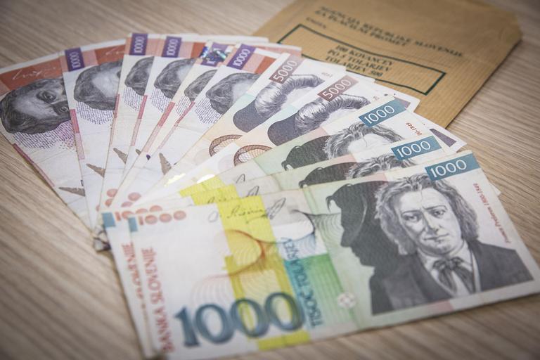 Tolar, tolarji, bankovec, bankovci, denar
