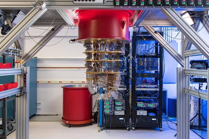 This is a multi-layered space that holds Google's Sycamore quantum computer. The temperature decreases with each layer and finally reaches only 15 millikelvin in the core, which is practically absolute zero (0 kelvin or minus 273,315 degrees Celsius), the lowest possible temperature. As cold as in the Sycamore computer room, there might not be anywhere else in space.