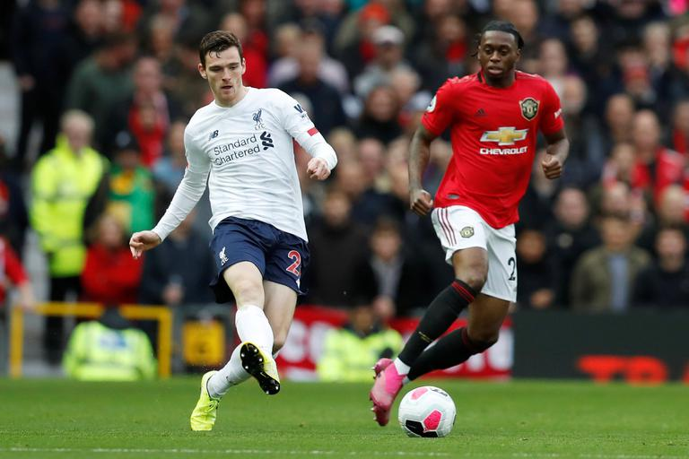 Image result for andy robertson vs manchester united