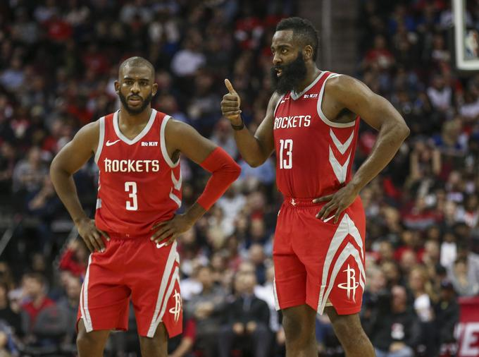James Harden (right) will definitely play against Dallas, but Chris Paul (left) is still a question.
