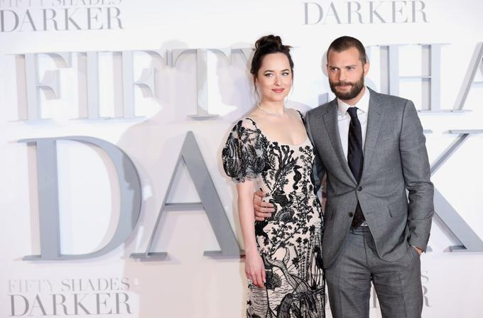 Glavna igralca Dakota Johnson in Jamie Dornan.