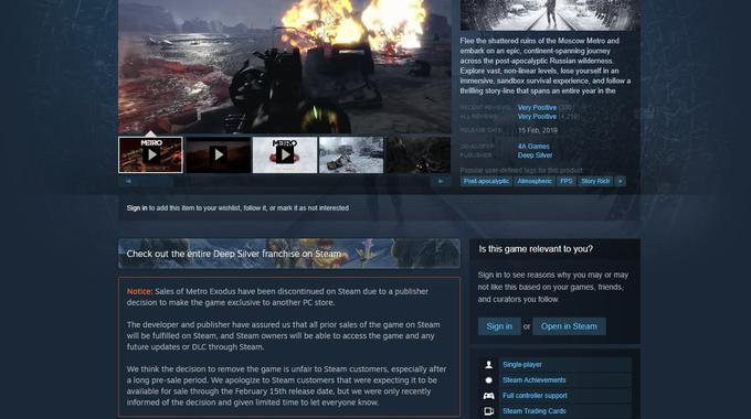 Epic Games Store: najbolj osovražena digitalna trgovina ta