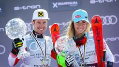 Marcel Hirscher in Mikarla Shiffrin