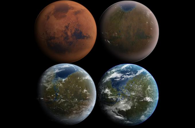 Thus, during the transformation process, the atmosphere and surface of Mars could in theory change.