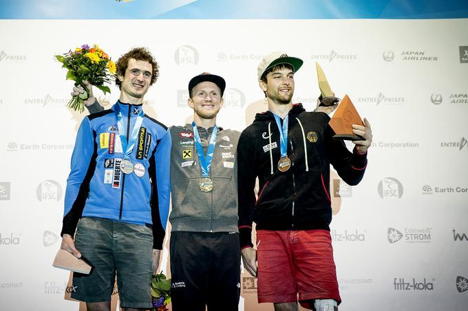In second place, Adam Ondra, winners Yaakov Schubert and Jan Hopper were impressed by the men's final.