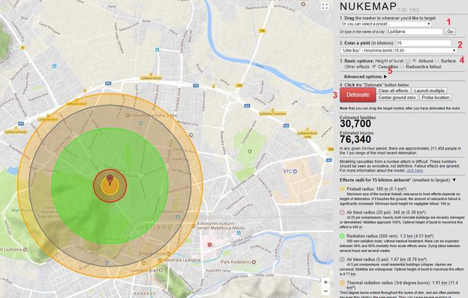 Kaj Ce Bi Na Ljubljano Padla Jedrska Bomba Severne Koreje Siol Net
