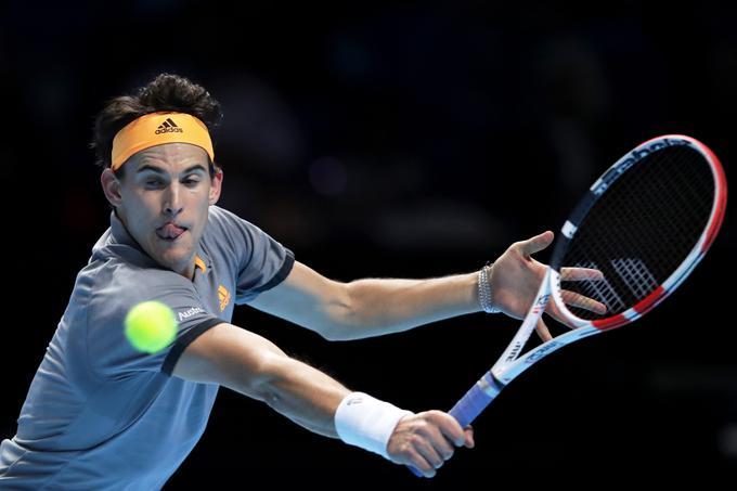 Dominic Thiem je zvečer premagal Rogerja Federerja.