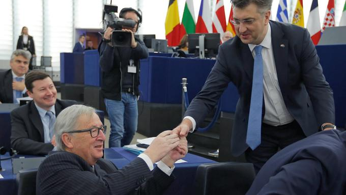 Jean-Claude Juncker in Andrej Plenković