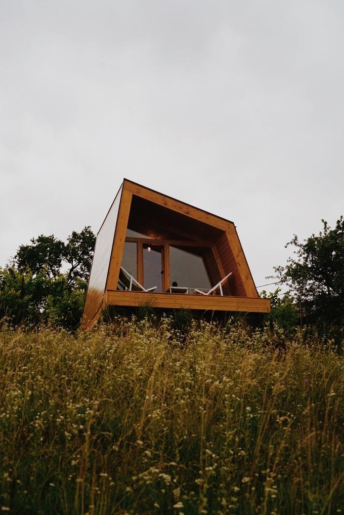 Lesene hiške za ljubitelje udobja in narave.