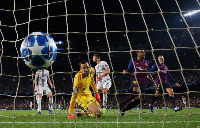 Samir Handanović received two goals in the Inter Champions League match at Barcelona (0:02).