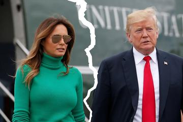 Melania in Donald Trump na razpotju? Ona eno, on drugo.