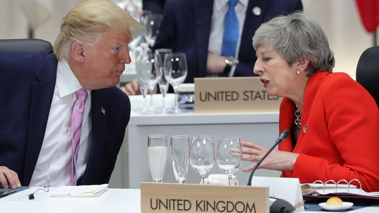 Donald Trump in Theresa May