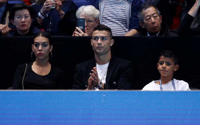 The meeting between Isner and Djokovic was followed by football star Cristiano Ronaldo with his family.