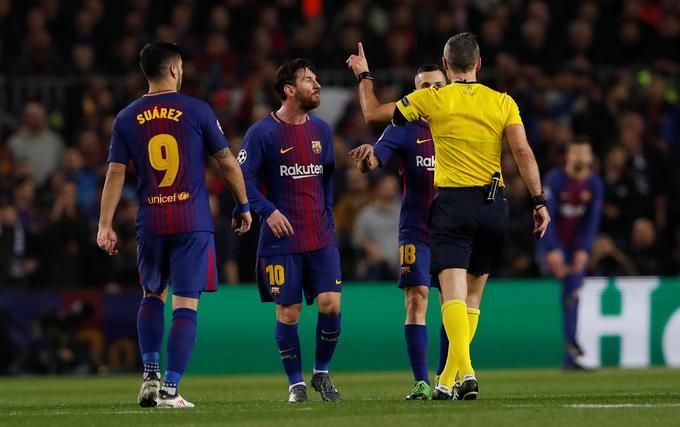 Skomina je sodil Barceloni že drugič v tej sezoni.