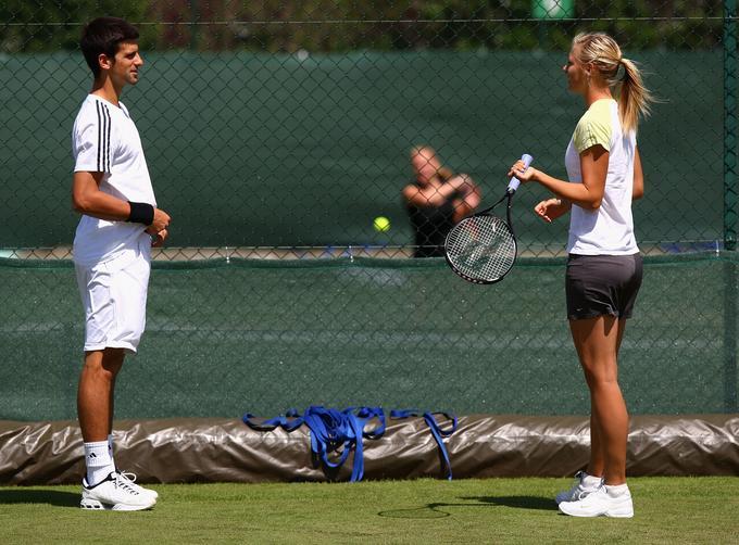 Marija Šarapova in Novak Đoković sta bila vedno v dobrih odnosih.