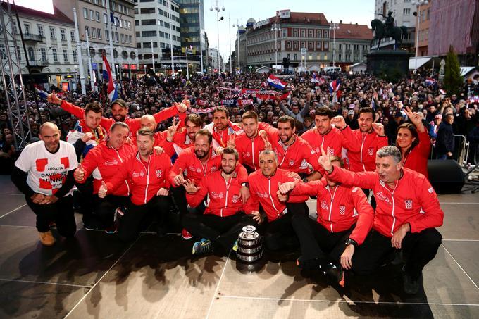 Po zmagi v Franciji je sledila velika slovesnost v hrvaški prestolnici na trgu Bana Jelačića.