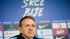 Training on Slovenian soccer team Stožice