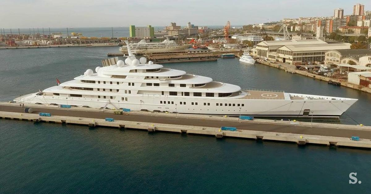The Largest Yacht In The World Is In Trieste
