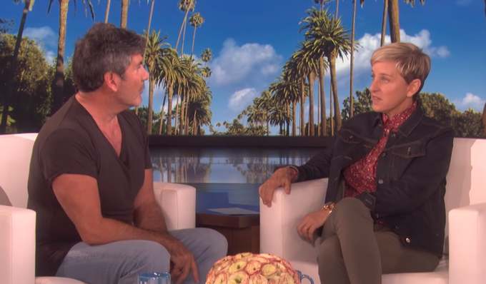 Simon Covell and Ellen DeGeneres