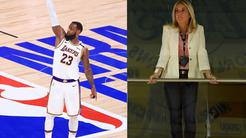 LeBron james in Jeanie Buss