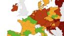 ECDC: Slovenija ostaja temno rdeča