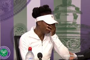 Venus Williams se je zlomila pred novinarji #video