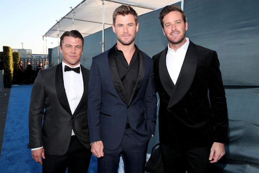Luke Hemsworth, Chris Hemsworth in Armie Hammer