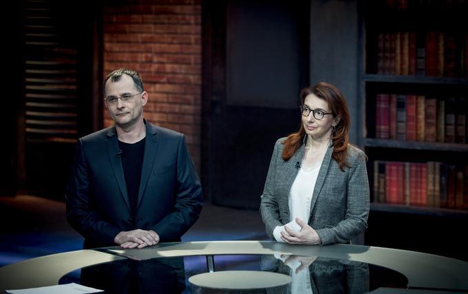 Boštjan Jager and Romana Javornik.