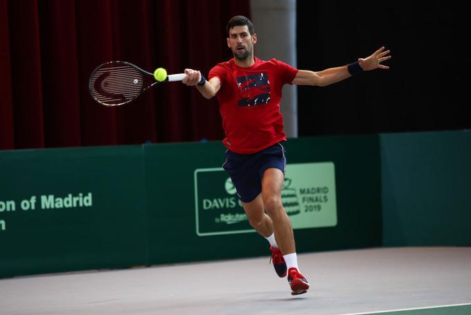 Novak Đoković je v Madridu, kjer bo ta teden s Srbijo igral v Davisovem pokalu.