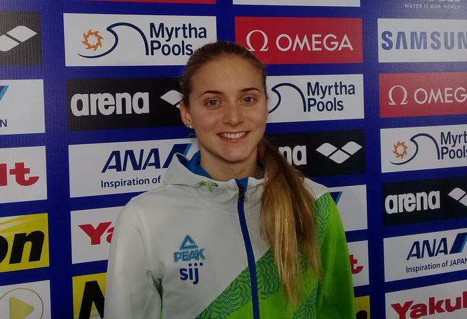 """""""Danes mi je šlo odlično na 100 m mešano, kjer takega izida nisem pričakovala, na 100 m prosto pa sem si želela še nekaj več, a sem bila za to na obratih prepočasna."""""""