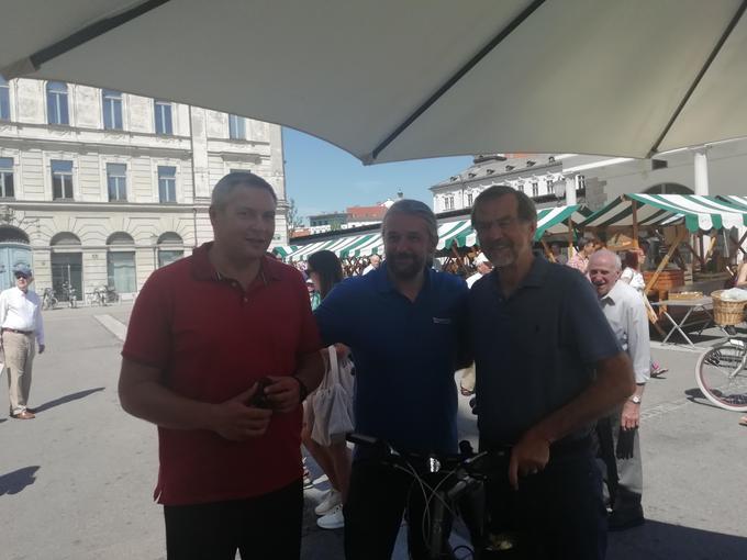 Z leve proti desni: Dejan Židan, Simon Balažic in Lojze Petrle