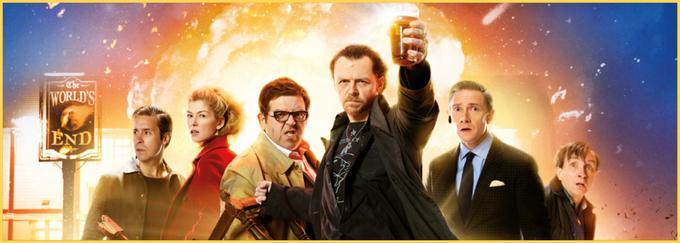Obešenjaška komedija Edgarja Writa spremlja pet prijateljev (Simon Pegg, Nick Frost, Martin Freeman, Paddy Considine, Eddie Marsan), ki se po dvajsetih letih znova srečajo v rojstnem kraju. Odločeni so, da bodo pred bližajočo apokalipso dokončali legendarni obhod pivnic in prek praznih vrčkov končno prišli do zadnjega bara Pr' konc sveta.• V ponedeljek, 20. 1., ob 12.18 na Planet PLUS.*