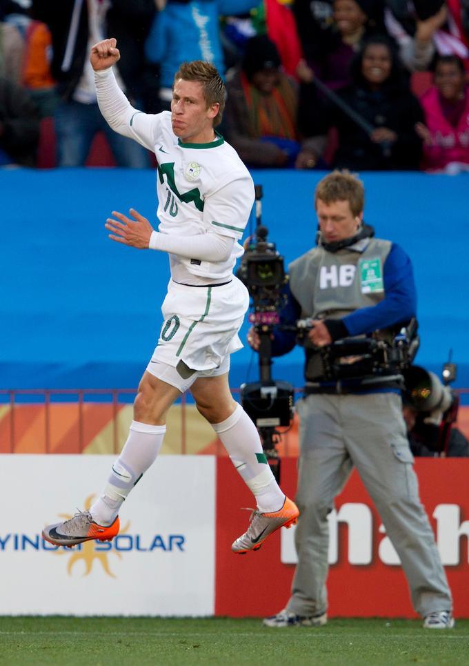 Valter Birsa je na tekmi z ZDA dosegel prekrasen zadetek za vodstvo z 1:0.