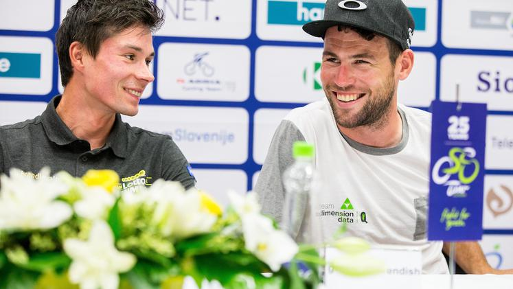 Primož Roglič Mark Cavendish