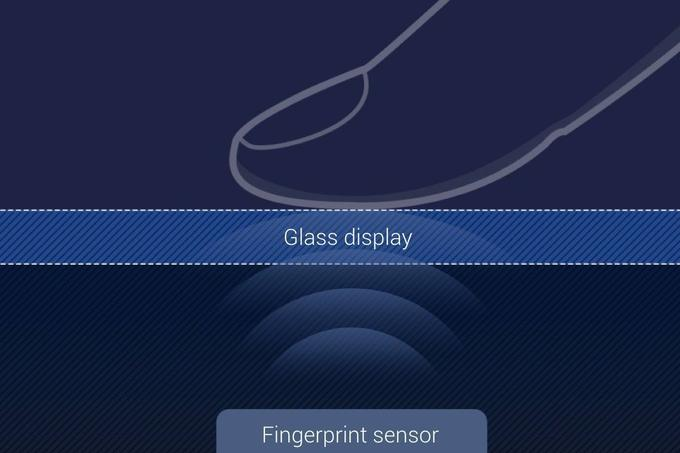 View the operation of the Qualcomm fingerprint reader under the glass screen. | Photo: Qualcomm