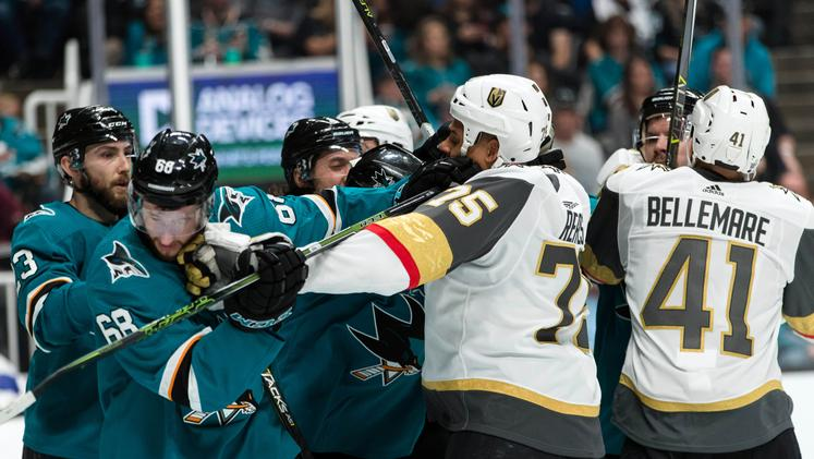 San Jose Sharks Vegas Golden Knights
