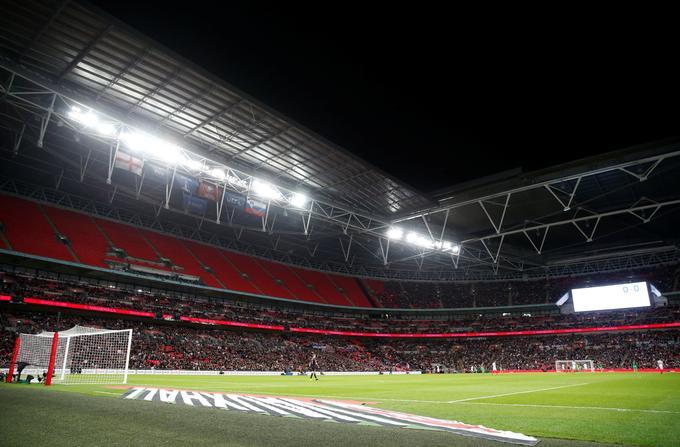 Mogočni Wembley bi, če ne bi bilo pandemije koronavirusa, v nedeljo gostil finale evropskega prvenstva.