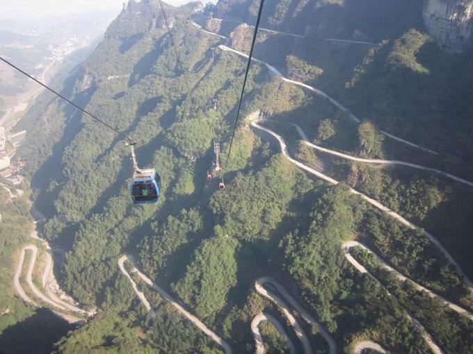Look at 11 km road gondola to the cable.