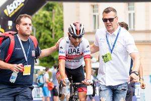Diego Ulissi has showed his strength and took green jersey in Idrija #video