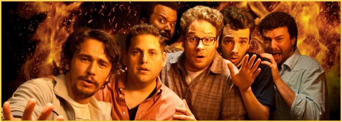 Šest prijateljev je ujetih v hiši slavnega filmskega igralca, medtem ko se zunaj odvija konec sveta. Nazadnje so prisiljeni zapustiti hišo in se spopasti z usodo, pri čemer spoznajo pomen prijateljstva in moč odrešitve. V še eni apokaliptični komediji se znana ameriška komedijantska bratovščina (James Franco, Jonah Hill, Seth Rogen in drugi) zoperstavi kataklizmi z veliko samoparodije in vulgarnega humorja.• V sredo, 29. 1., ob 23.25 na Kino.* │ Tudi na HBO OD/GO.
