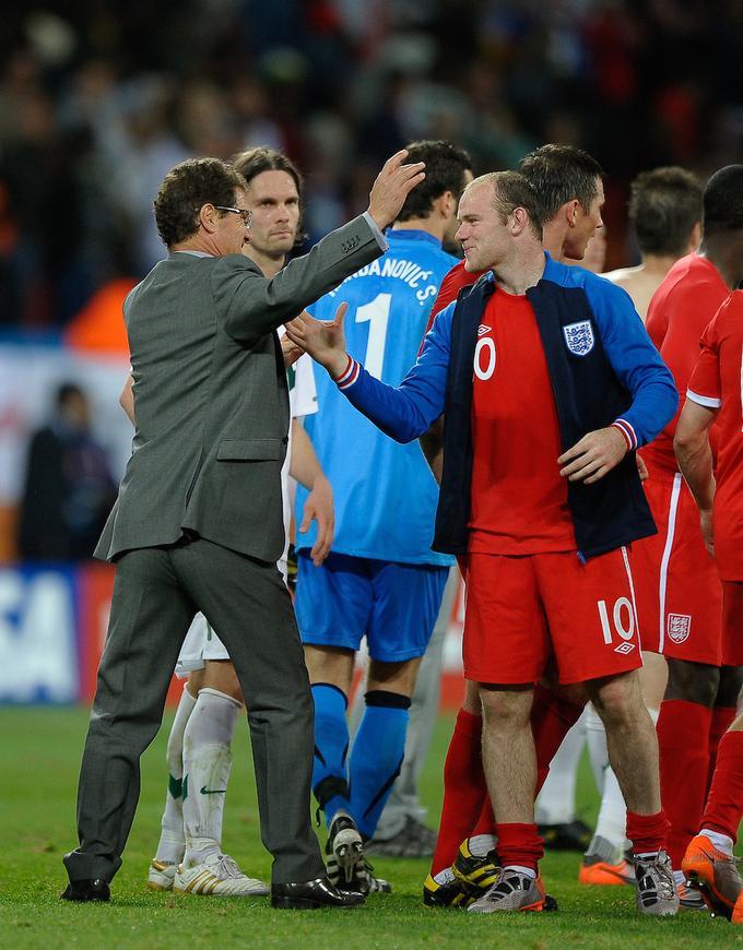 Angleški zvezdniki na čelu s selektorjem Fabiem Capellom so si po zmagi nad Slovenijo oddahnili.