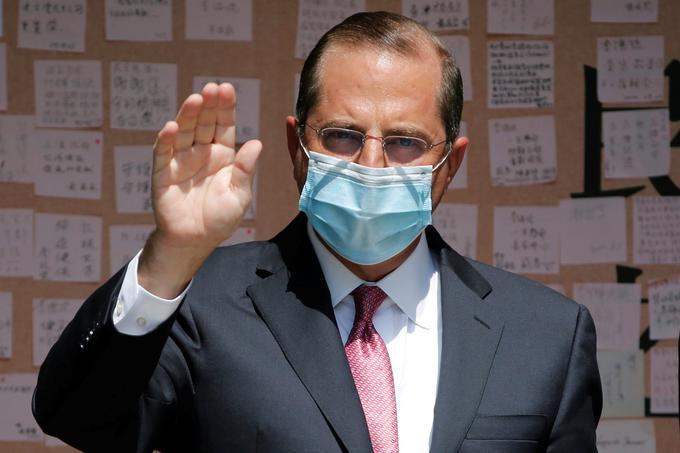 Ameriški minister za zdravje Alex Azar.