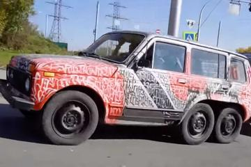 Ruska norost leta: lada niva 6x6 #video