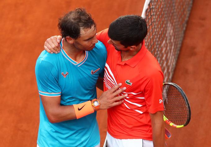 Rafael Nadal in Novak Đoković sta nazadnje igrala letos v Rimu.
