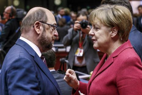 Kako sta se spopadla Martin Schulz in Angela Merkel? #video