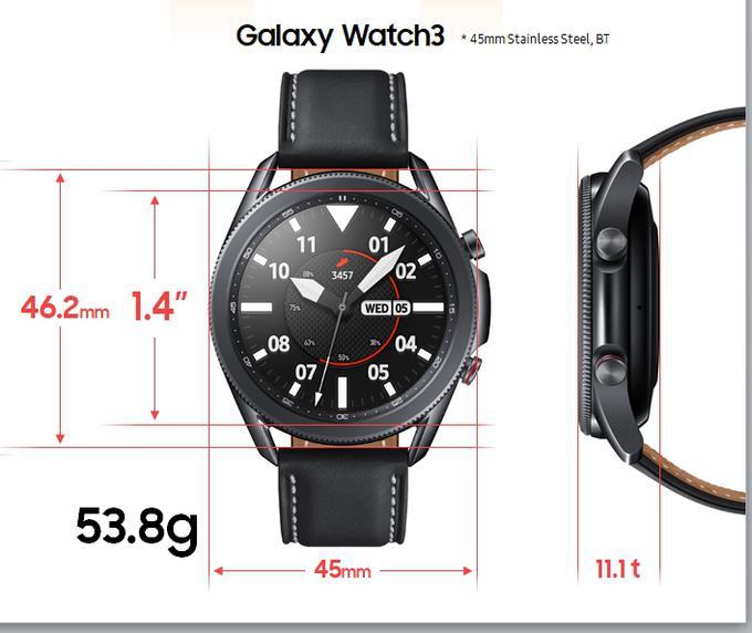 Ena od izvedb nove Samsungove pametne ure Galaxy Watch3
